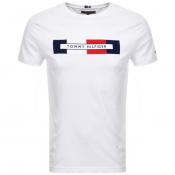 Tommy Hilfiger Box Logo T Shirt White